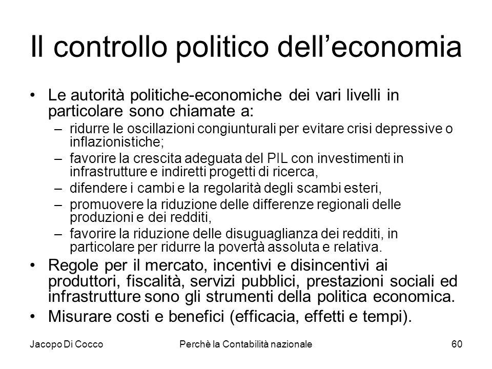 Il controllo politico dell'economia