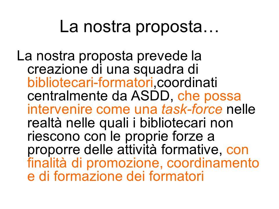 La nostra proposta…