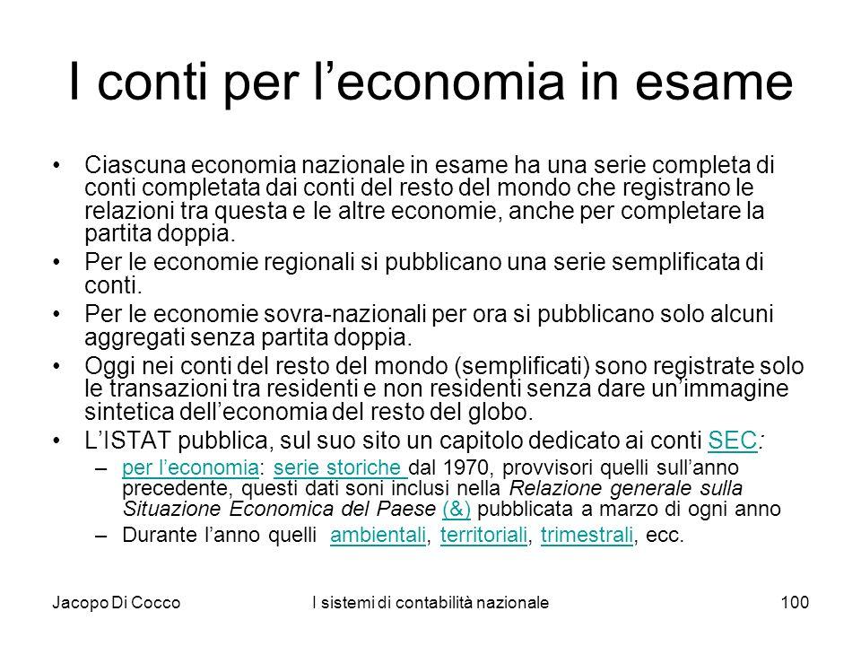 I conti per l'economia in esame