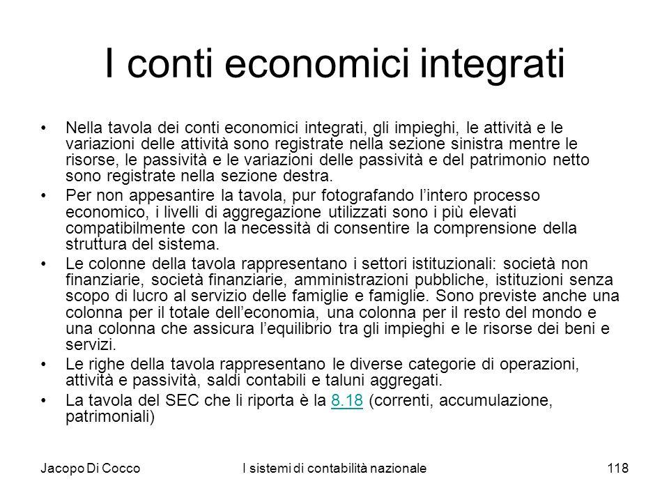I conti economici integrati