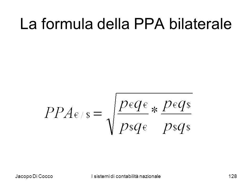 La formula della PPA bilaterale