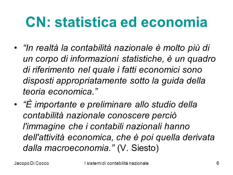 CN: statistica ed economia