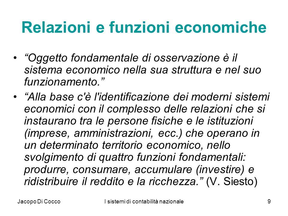 Relazioni e funzioni economiche