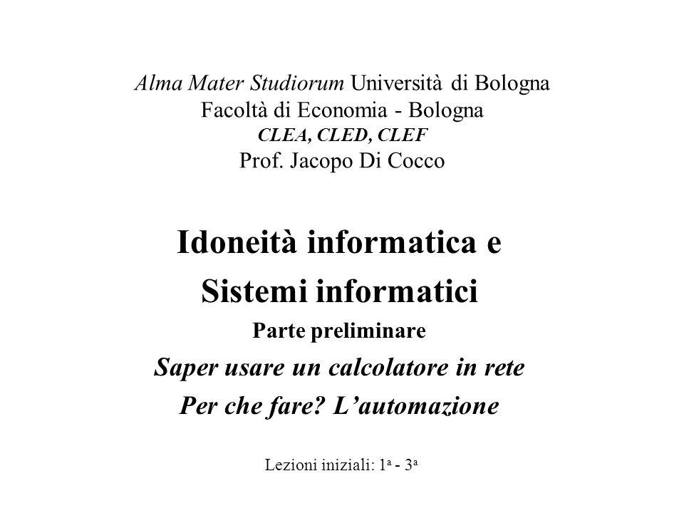 Idoneità informatica e Sistemi informatici