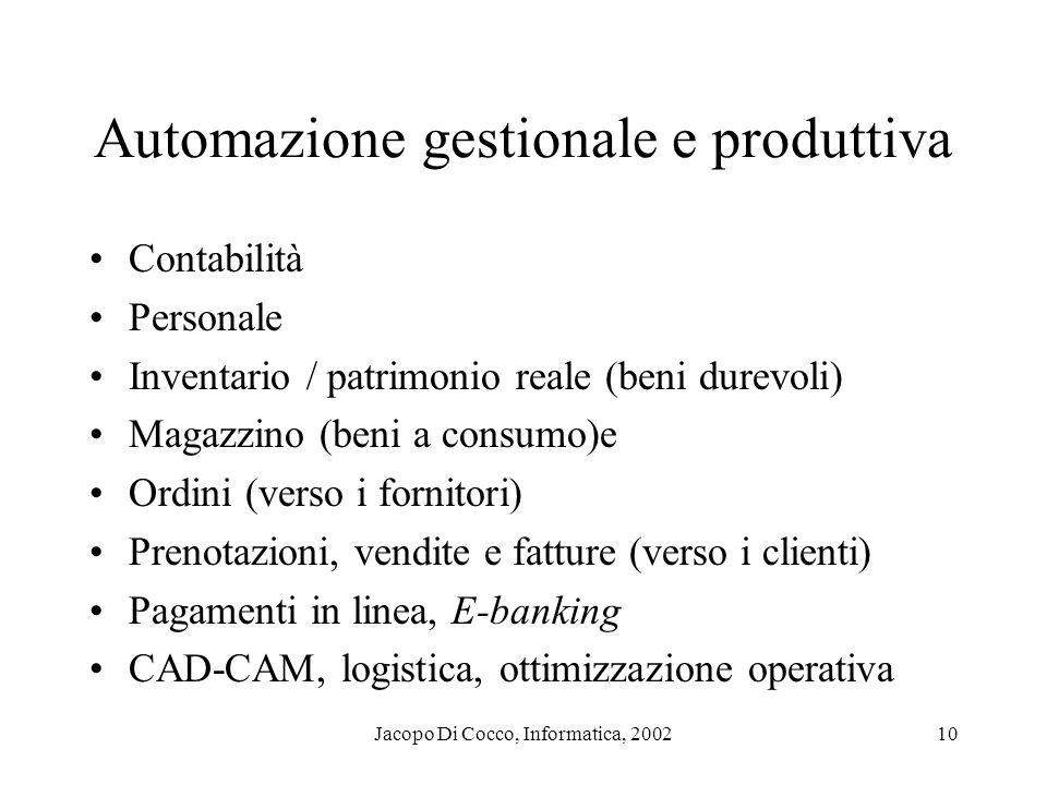 Automazione gestionale e produttiva