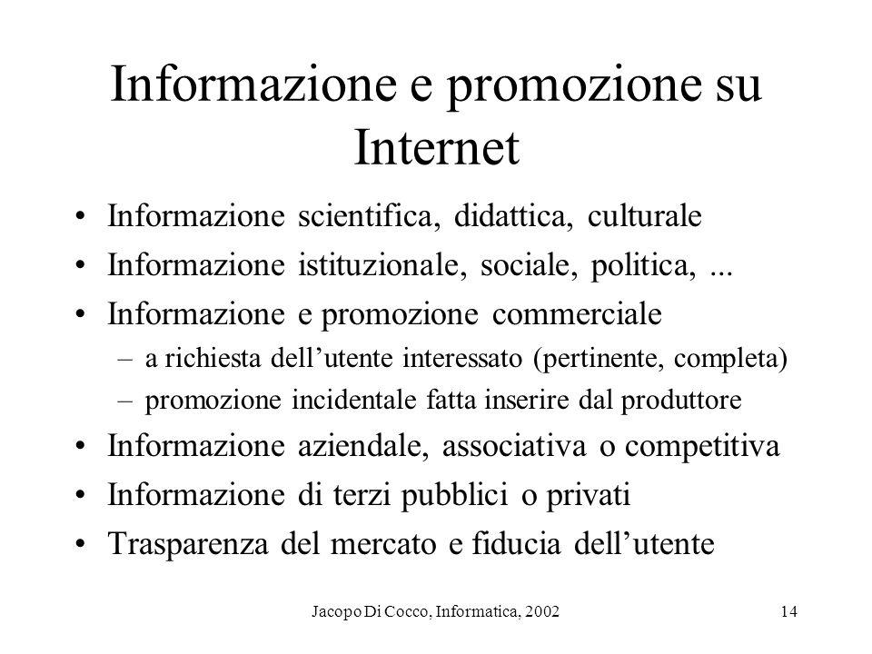 Informazione e promozione su Internet