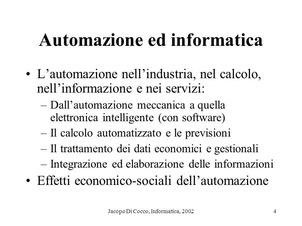 Automazione ed informatica