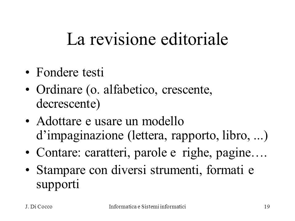 La revisione editoriale