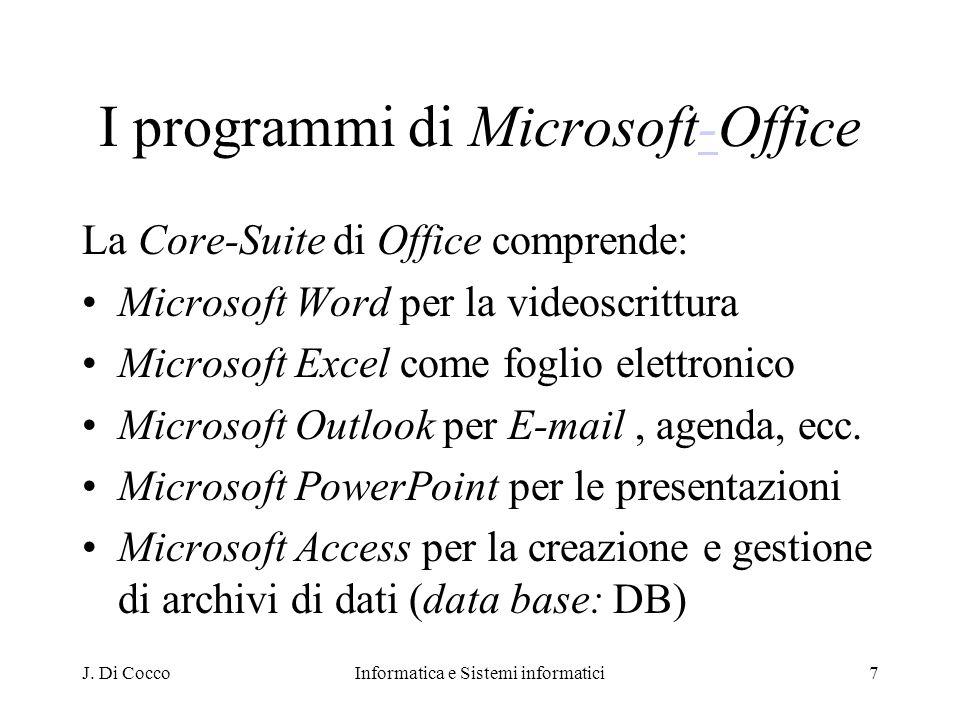 I programmi di Microsoft-Office