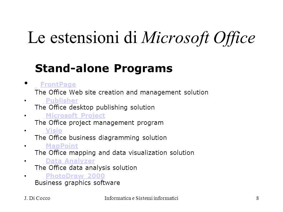 Le estensioni di Microsoft Office