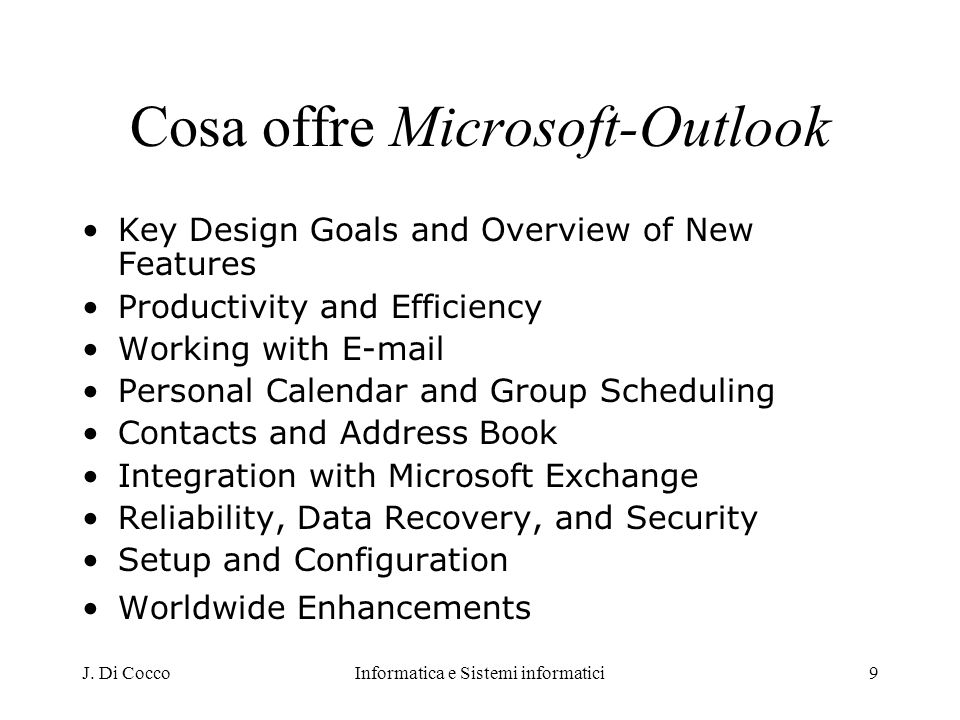 Cosa offre Microsoft-Outlook