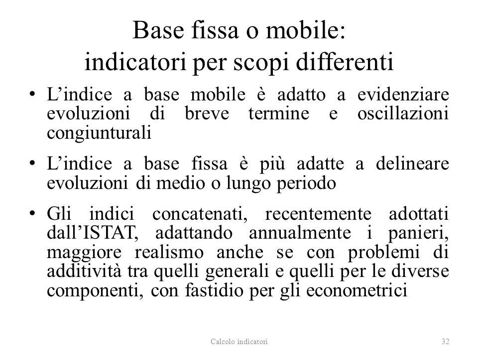 Base fissa o mobile: indicatori per scopi differenti