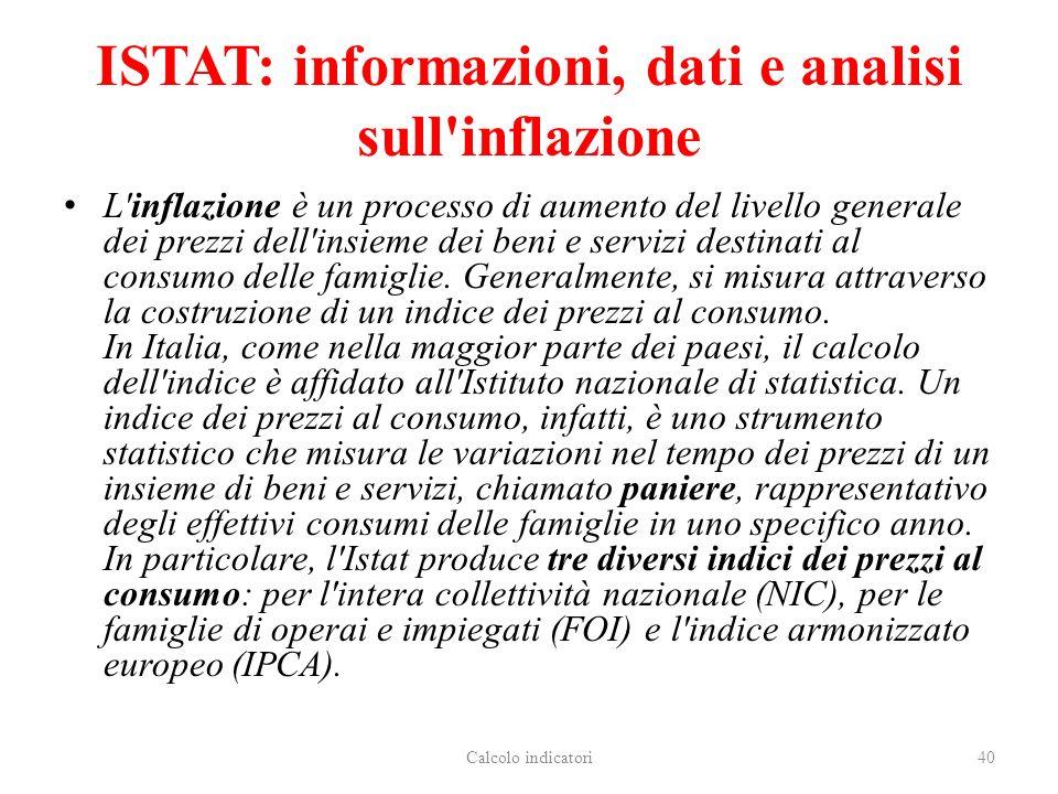 ISTAT: informazioni, dati e analisi sull inflazione