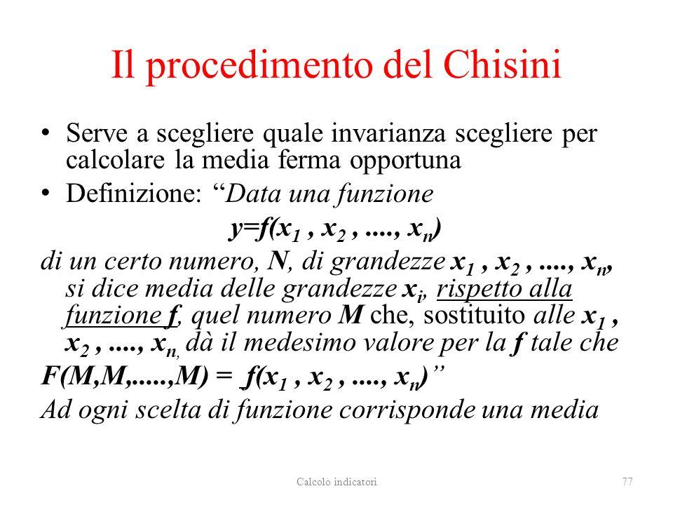 Il procedimento del Chisini