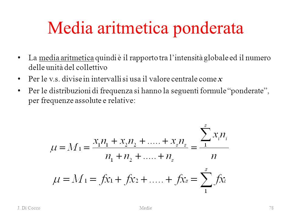 Media aritmetica ponderata