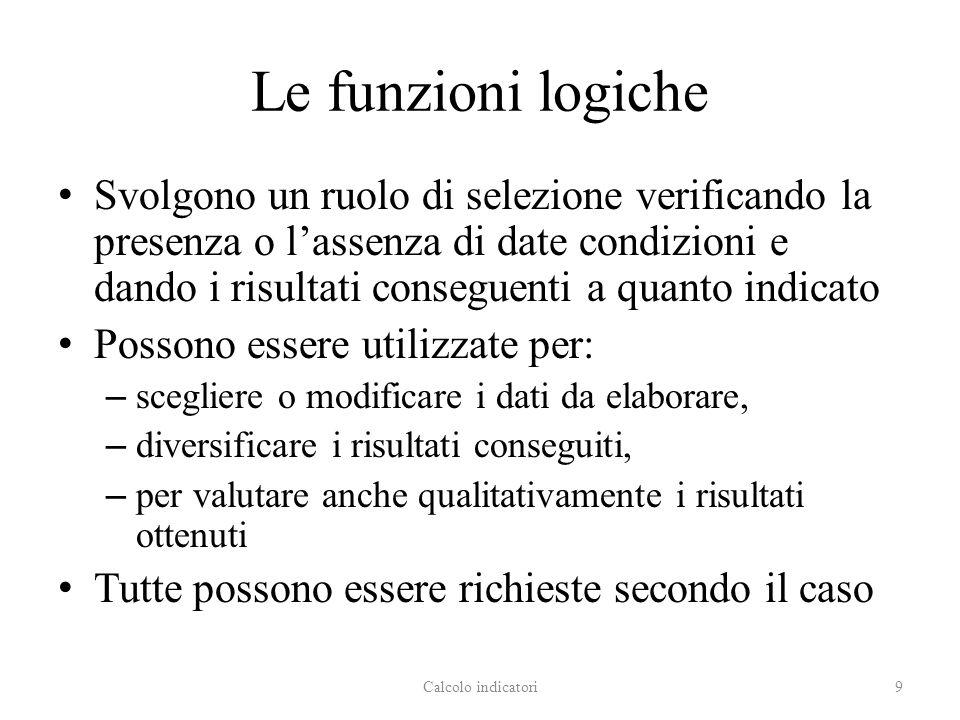 Le funzioni logiche
