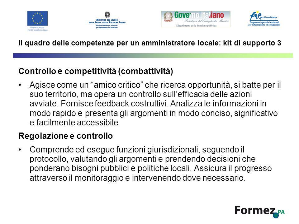 Controllo e competitività (combattività)