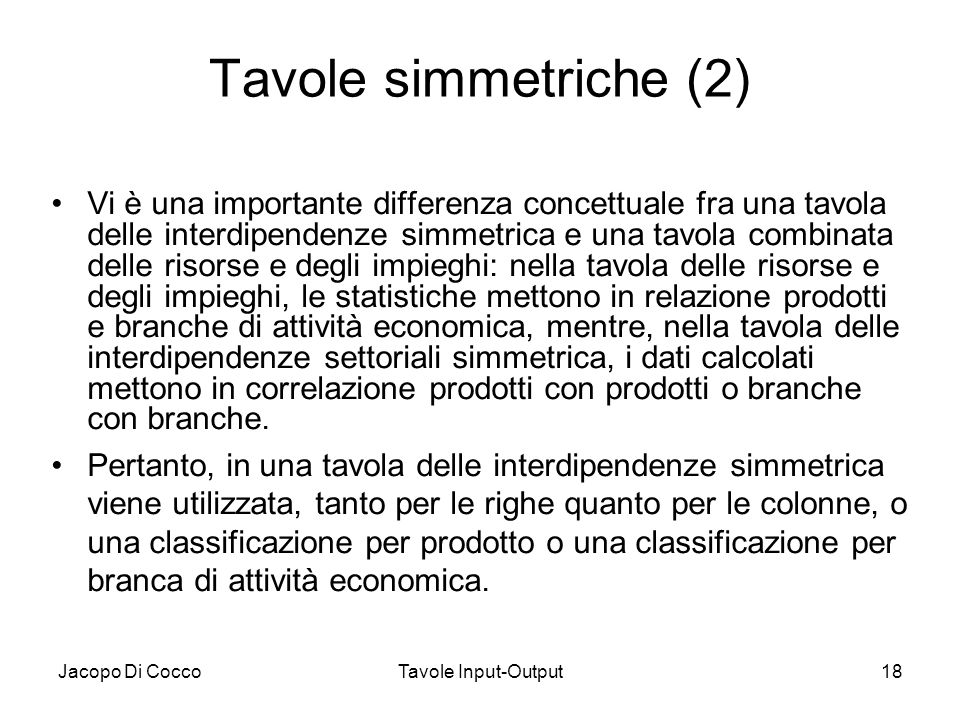 Tavole simmetriche (2)