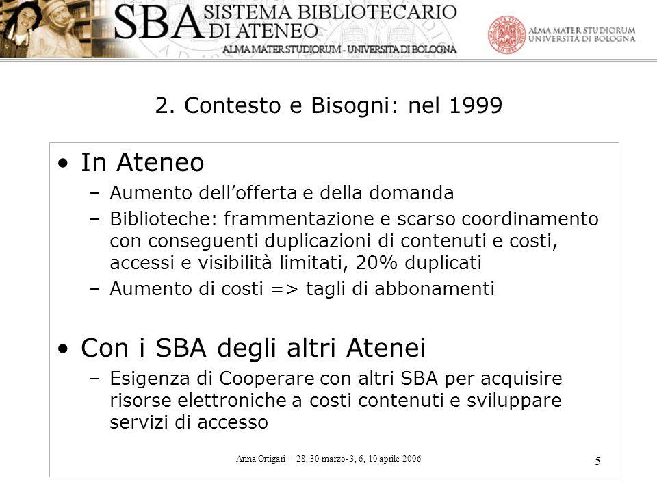 2. Contesto e Bisogni: nel 1999