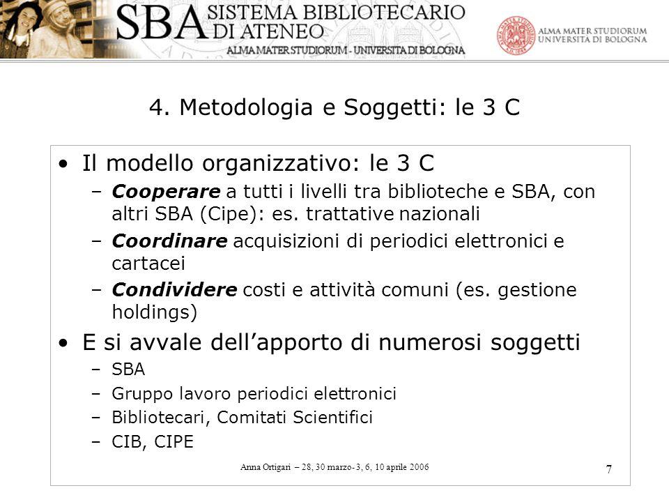 4. Metodologia e Soggetti: le 3 C