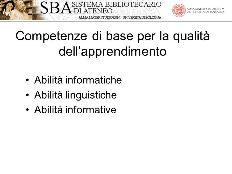 Competenze di base per la qualità dell'apprendimento