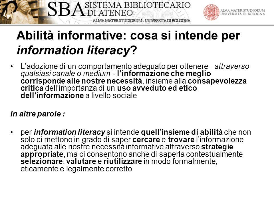 Abilità informative: cosa si intende per information literacy