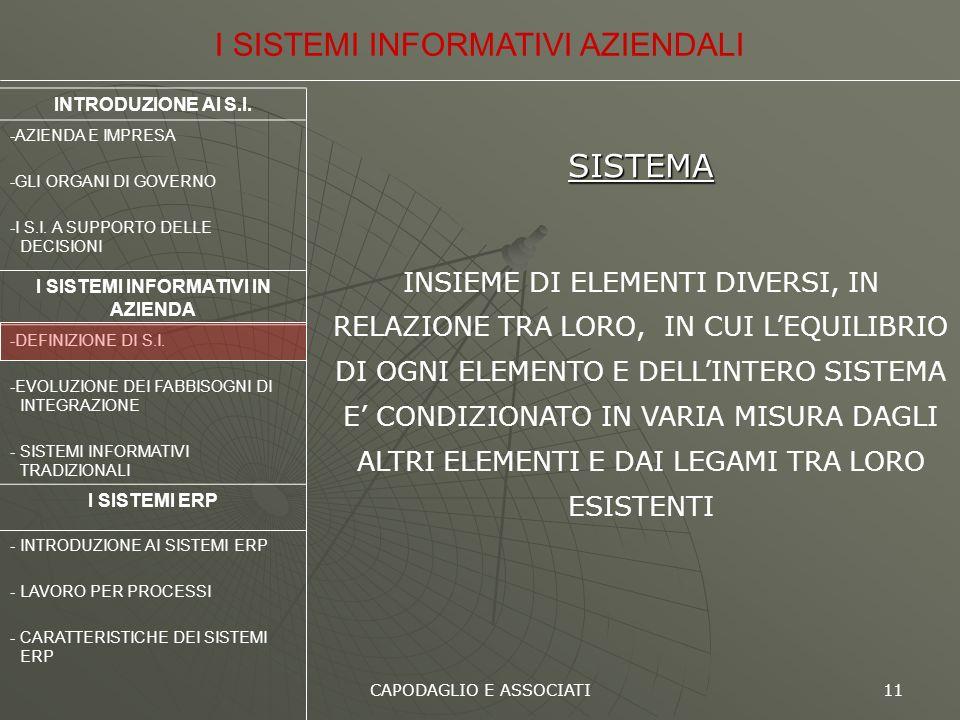 I SISTEMI INFORMATIVI IN AZIENDA