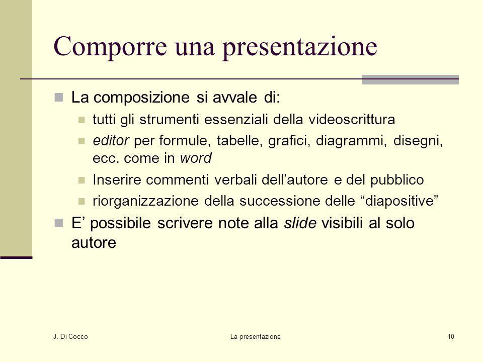 Comporre una presentazione