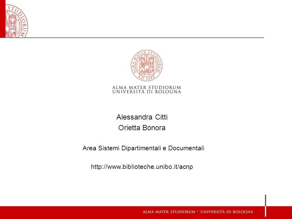 Area Sistemi Dipartimentali e Documentali