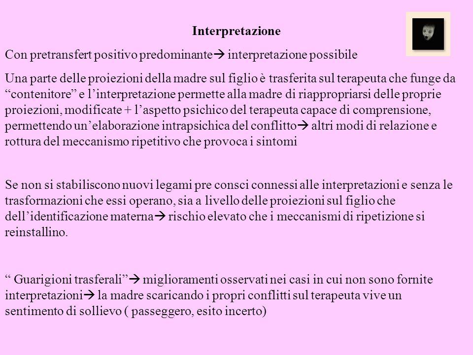 Interpretazione Con pretransfert positivo predominante interpretazione possibile.