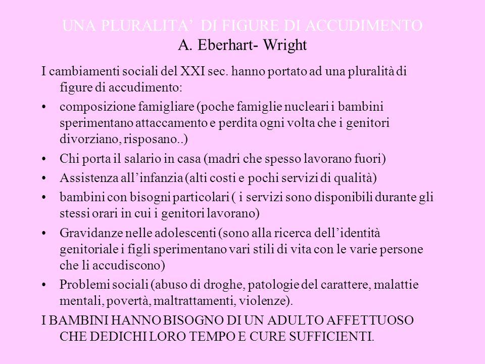UNA PLURALITA' DI FIGURE DI ACCUDIMENTO A. Eberhart- Wright