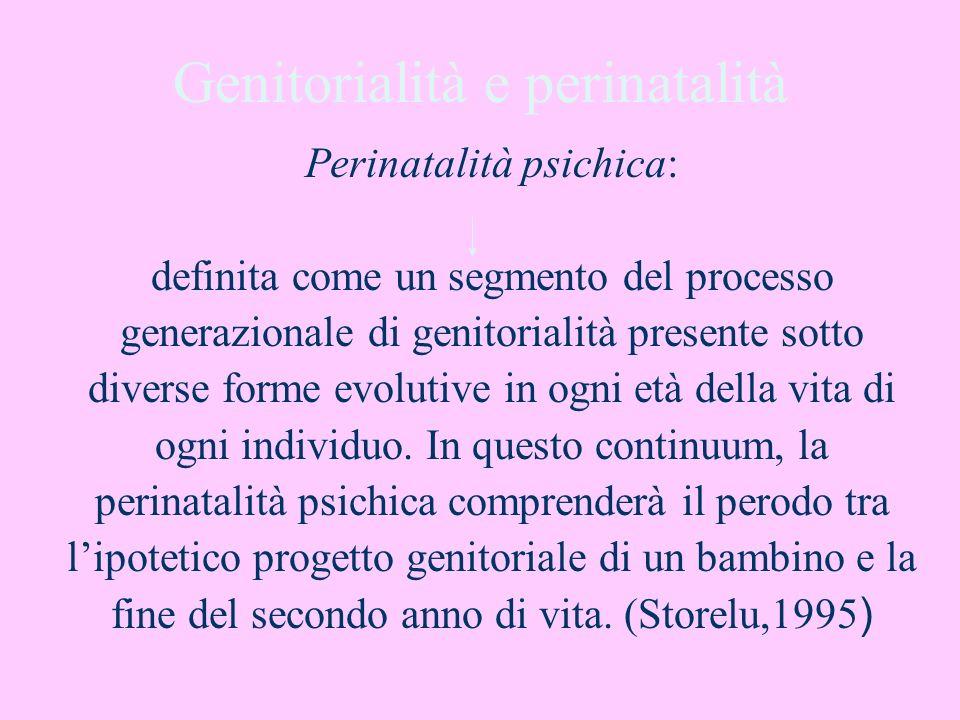 Genitorialità e perinatalità