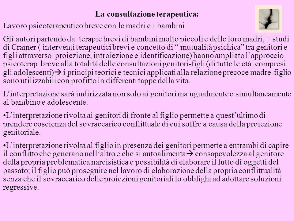 La consultazione terapeutica:
