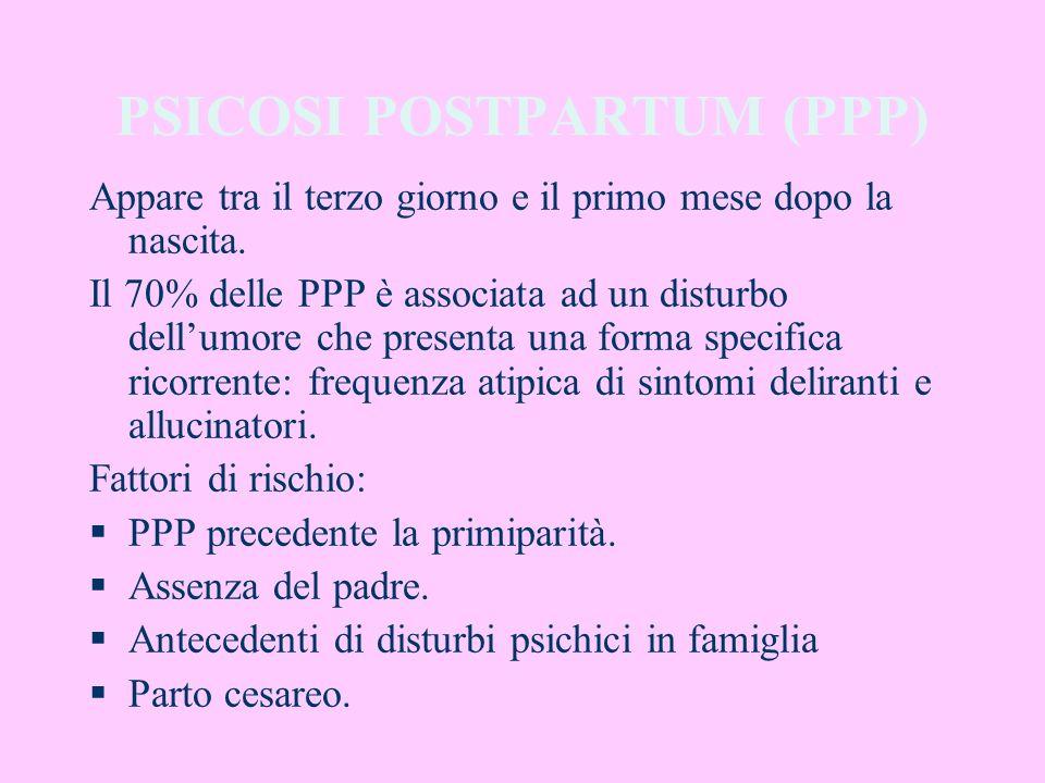 PSICOSI POSTPARTUM (PPP)