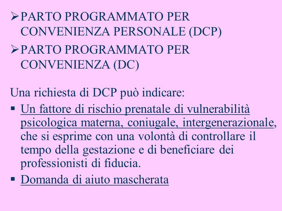 PARTO PROGRAMMATO PER CONVENIENZA PERSONALE (DCP)