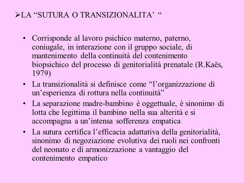 LA SUTURA O TRANSIZIONALITA'