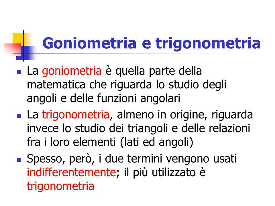 Goniometria e trigonometria