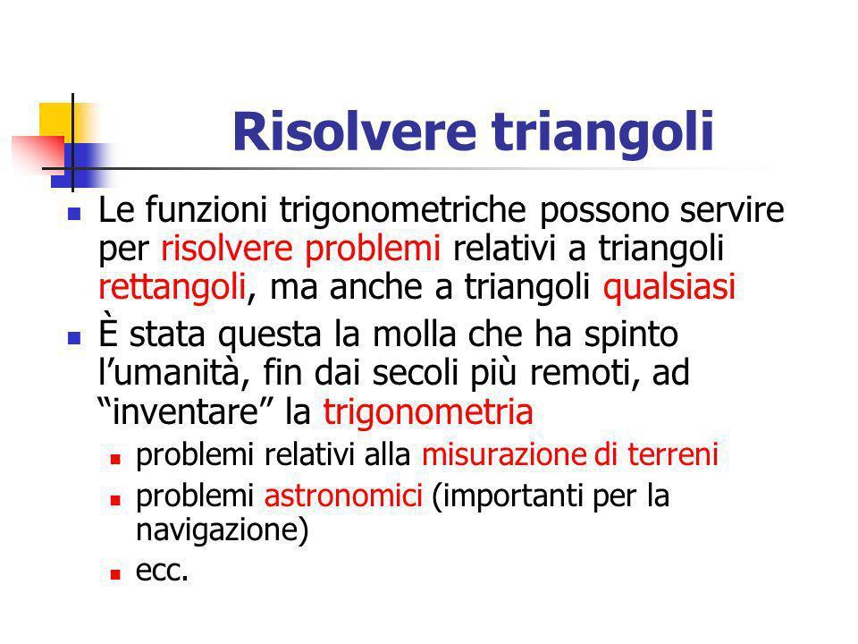 Risolvere triangoli