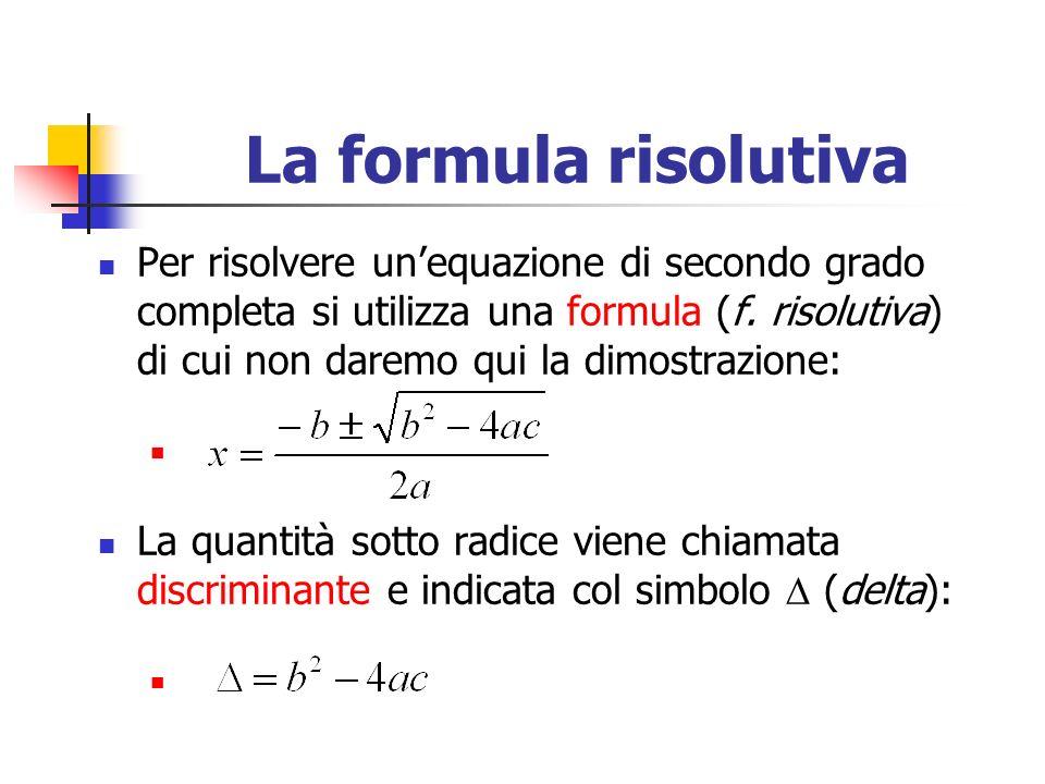 La formula risolutiva
