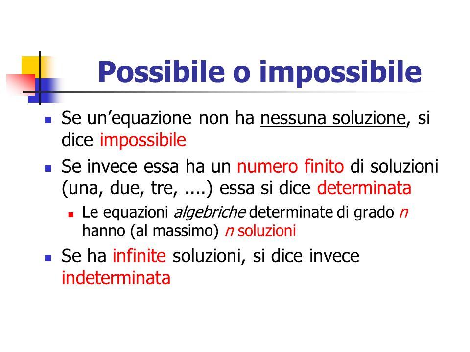 Possibile o impossibile