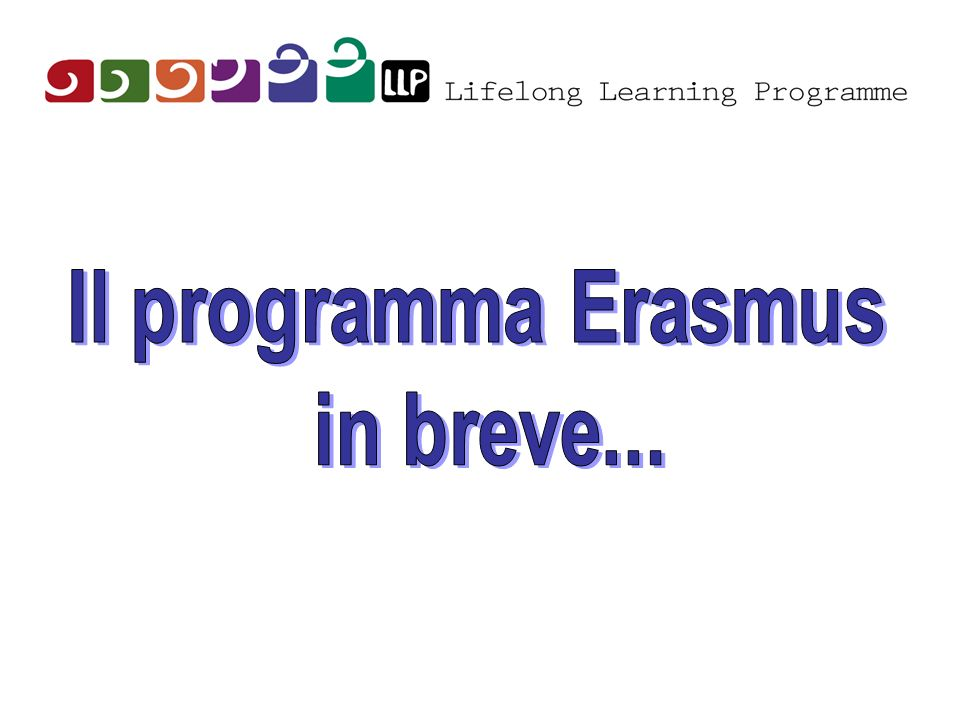 Il programma Erasmus in breve...