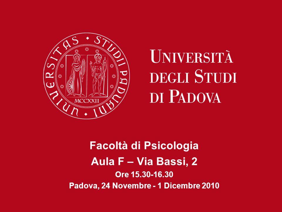 Padova, 24 Novembre - 1 Dicembre 2010