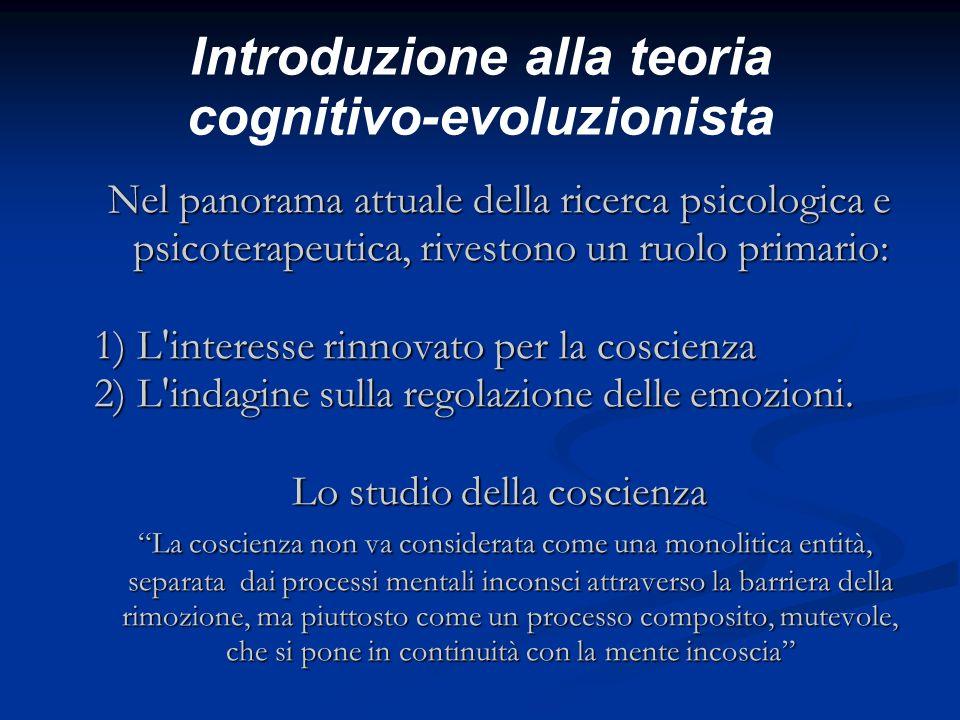 Introduzione alla teoria cognitivo-evoluzionista