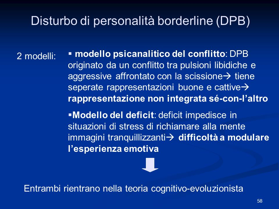 Disturbo di personalità borderline (DPB)