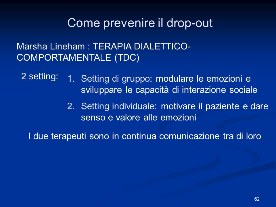 Come prevenire il drop-out