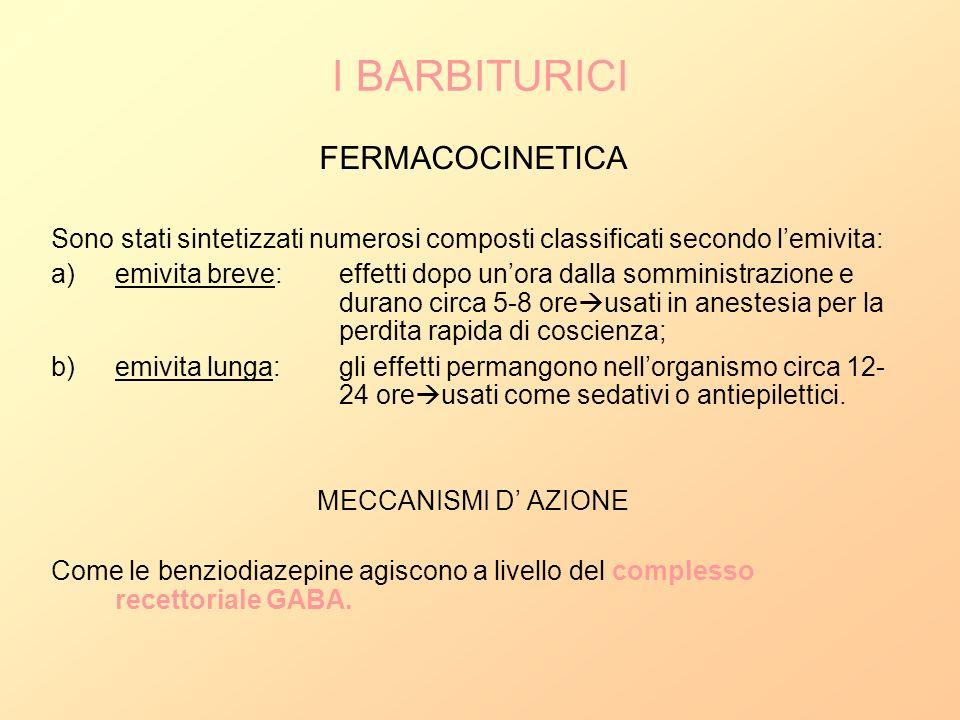 I BARBITURICI FERMACOCINETICA