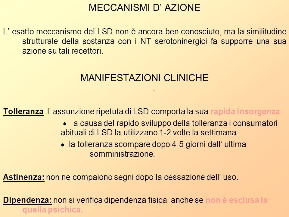 MANIFESTAZIONI CLINICHE .