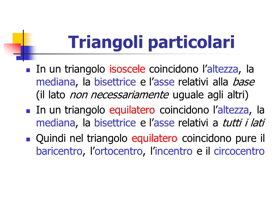 Triangoli particolari