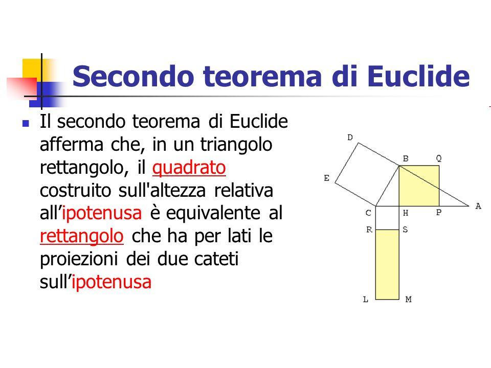 Secondo teorema di Euclide