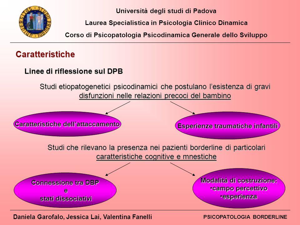 Caratteristiche Linee di riflessione sul DPB